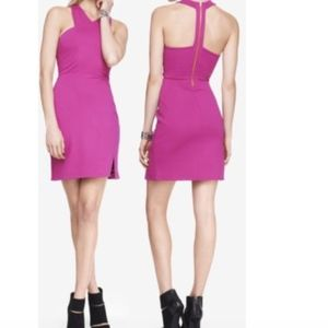 Express Crisscross Neck Ponte Knit Sheath Dress